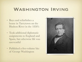 how did washington irving die