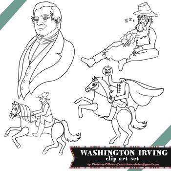 Washington Irving Clip Art Set
