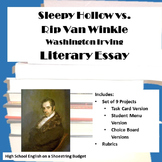 Washington Irving Essay: Sleepy Hollow vs. Rip Van Winkle