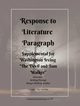 """Washington Irving """"The Devil and Tom Walker"""" - Response to Literature Paragraph"""