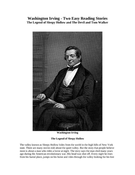 Washington Irving - Two Easy Reading Short Stories