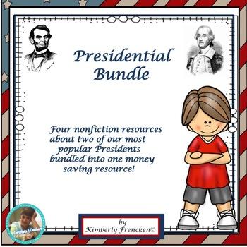 Washington & Lincoln Bundle: Non-Fiction passages & printables