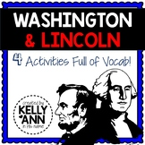 George Washington and Abraham Lincoln Activities - Presidents' Day