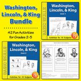 Washington, Lincoln, & Martin Luther King {Bundle}