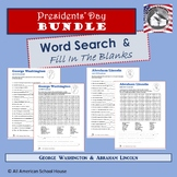 Presidents' Day Bundle - Washington & Lincoln Word Searche