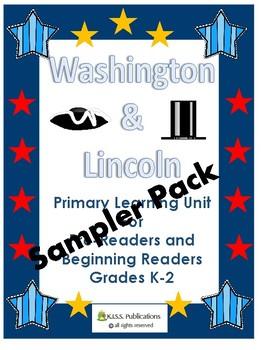 Washington-Lincoln Primary Social Studies Unit Worksheets SAMPLE SET