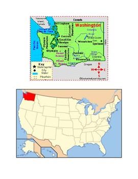 Washington Map Scavenger Hunt