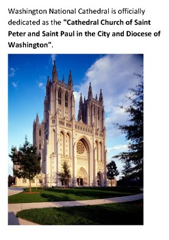 Washington National Cathedral Word Search