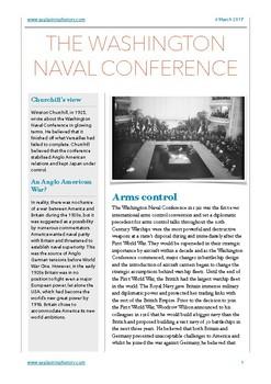 Washington Naval Conference Study Notes