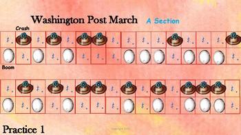 Washington Post March:  Rhythm Score for Classroom Percussion