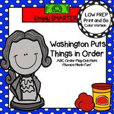 Washington Puts Things in Order:  LOW PREP ABC Order Play Dough Mats
