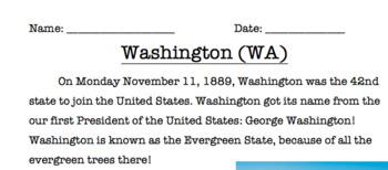 Washington Reading Comprehension