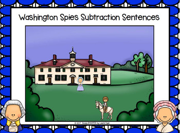 Washington Spies Subtraction Sentences:  NO PREP I Spy Game