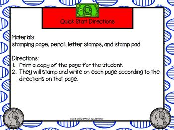 Washington Stamps Digraphs:  NO PREP Digraph Rubber Stamping Activities