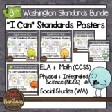 Washington State Eighth Grade Learning Standards Posters BUNDLE