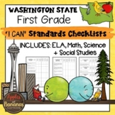"""Washington State First Grade """"I Can"""" Learning Standards Ch"""