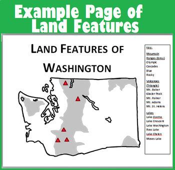 Washington State Geography Webquest No-Prep Bundle