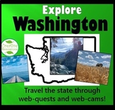 Washington State Geography Webquest No-Prep Packet for Rem