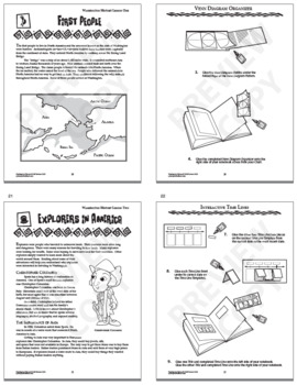 Washington State History Bundle of 8 COMPLETE Interactive Notebook Lessons!