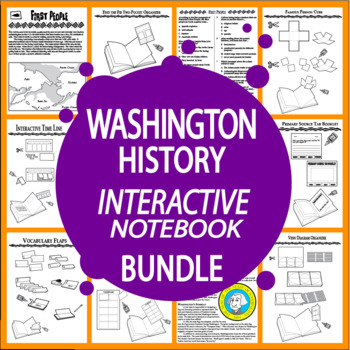 Washington State History Interactive Bundle – 8 Washington State Study Lessons!