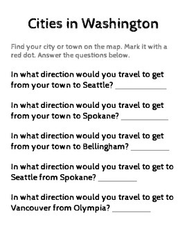 Washington State History/Geography {Lesson 3: Cities in Washington}