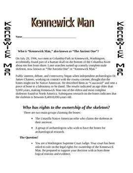 Washington State History/Pacific Northwest History: Kennewick Man