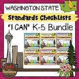 "Washington State K-5 ""I Can"" Standards Checklists Bundle"