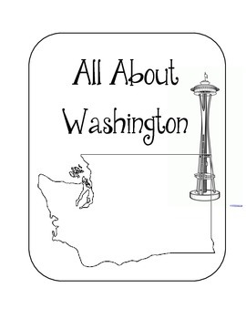 Washington State Lapbook. Interactive Notebook. US History and Geography