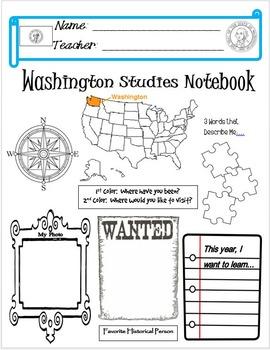 Washington State Notebook Cover