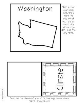Washington State Research Lapbook Interactive Project
