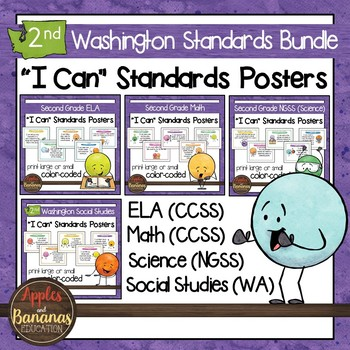 Washington State Second Grade Learning Standards Posters BUNDLE