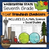 """Washington State Seventh Grade """"I Can"""" Learning Standards Checklists"""