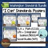 Washington State Seventh Grade Learning Standards Posters BUNDLE