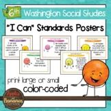 Washington State Sixth Grade Learning Standards Posters BUNDLE