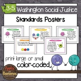 Washington State Social Justice - Grades 3-5 Standards Posters