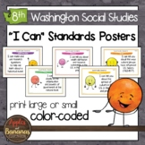 Washington State Social Studies - Eighth Grade Learning Standards Posters
