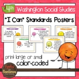 Washington State Social Studies - Fourth Grade Learning Standards Posters