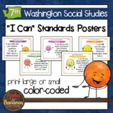 Washington State Social Studies - Seventh Grade Learning Standards Posters