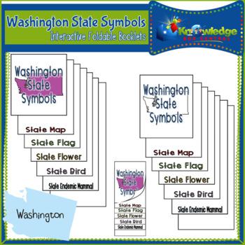 Washington State Symbols Interactive Foldable Booklets