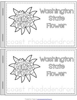 Washington State Symbols Notebook