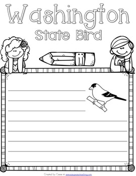 Washington State Symbols Notebook