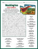 WASHINGTON State Symbols Word Search Puzzle Worksheet Activity