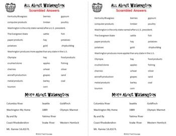 Washington State Webquest Reading Common Core Research Mini Book