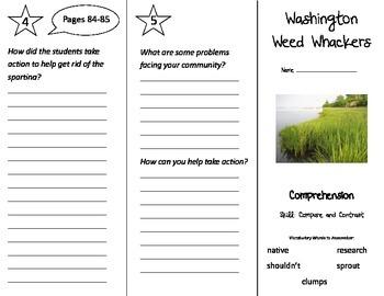 Washington Weed Whackers Trifold - Treasures 3rd Grade Unit 4 Week 3 (2009)