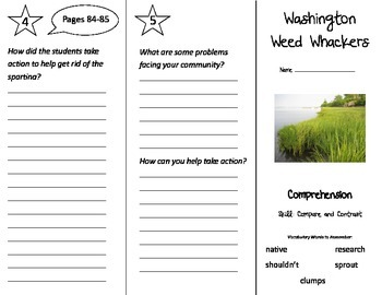 Washington Weed Whackers Trifold - Treasures 3rd Grade Unit 4 Week 3 (2009)