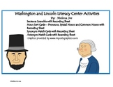 Presidents-Washington and Lincoln Literacy Center Activities