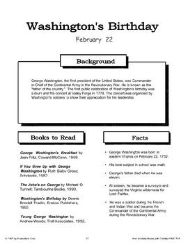 Washington's Birthday: Making Books