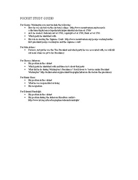 George Washington First Cabinet Worksheets Teaching Resources Tpt