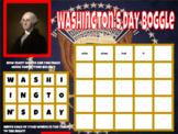 Washington's Day Boggle  Activity Digital and Google Classroom Ready