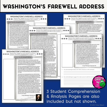 Washington's Farewell Address Primary Source Document Analysis